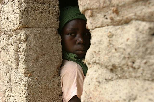 A kid in the troubled Central African republic