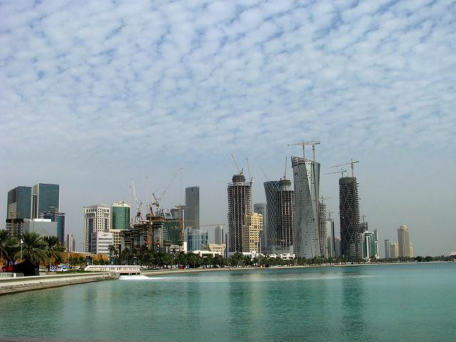 A beautiful view of world's richest country Qatar's city .