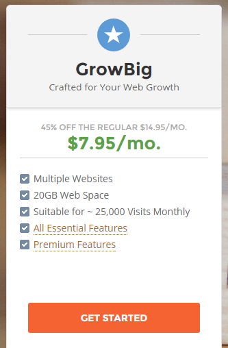 Siteground hosting review : GROWBIG plan